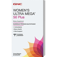 GNC Womens Ultra Mega 50 Plus 60caps